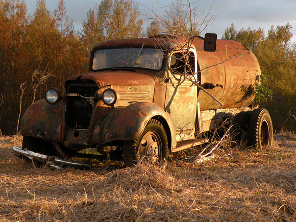 A Tanker Truck Perhaps a Bit Past its Prime, Maui Island, Maui County, Hawaii, photo by Patrick McNally