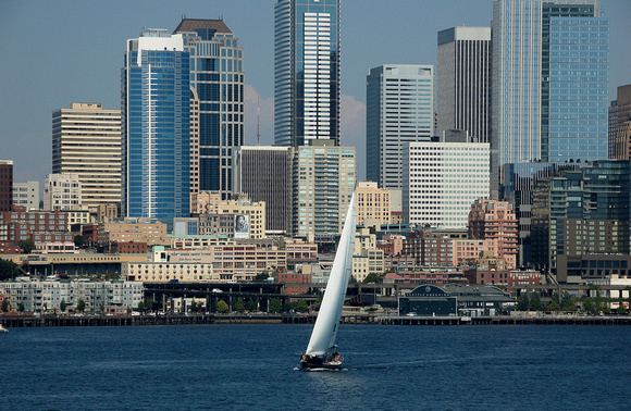 Seattle Skyline with Sailboat