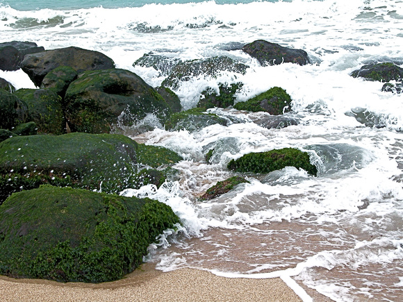Rocks at Kahului Beach Park, Maui Island, Maui County, Hawaii, photo by Patrick McNally